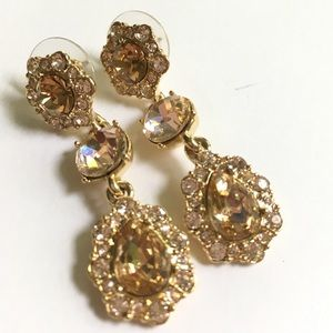 GIVENCHY Crystal Triple Drop Earrings